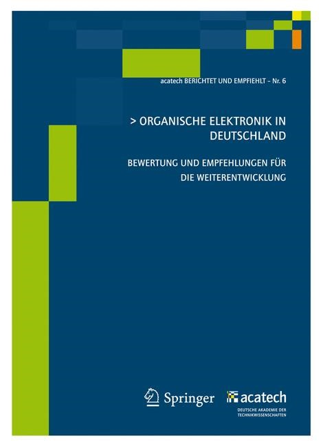 Organische Elektronik in Deutschland | acatech, 2011 | Buch (Cover)