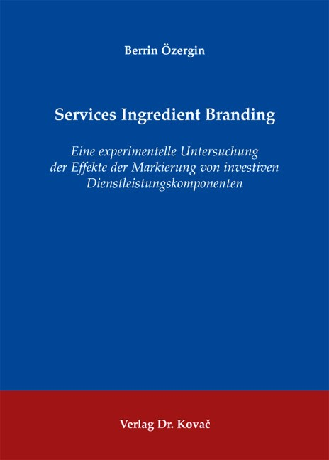 Services Ingredient Branding | Özergin, 2011 | Buch (Cover)