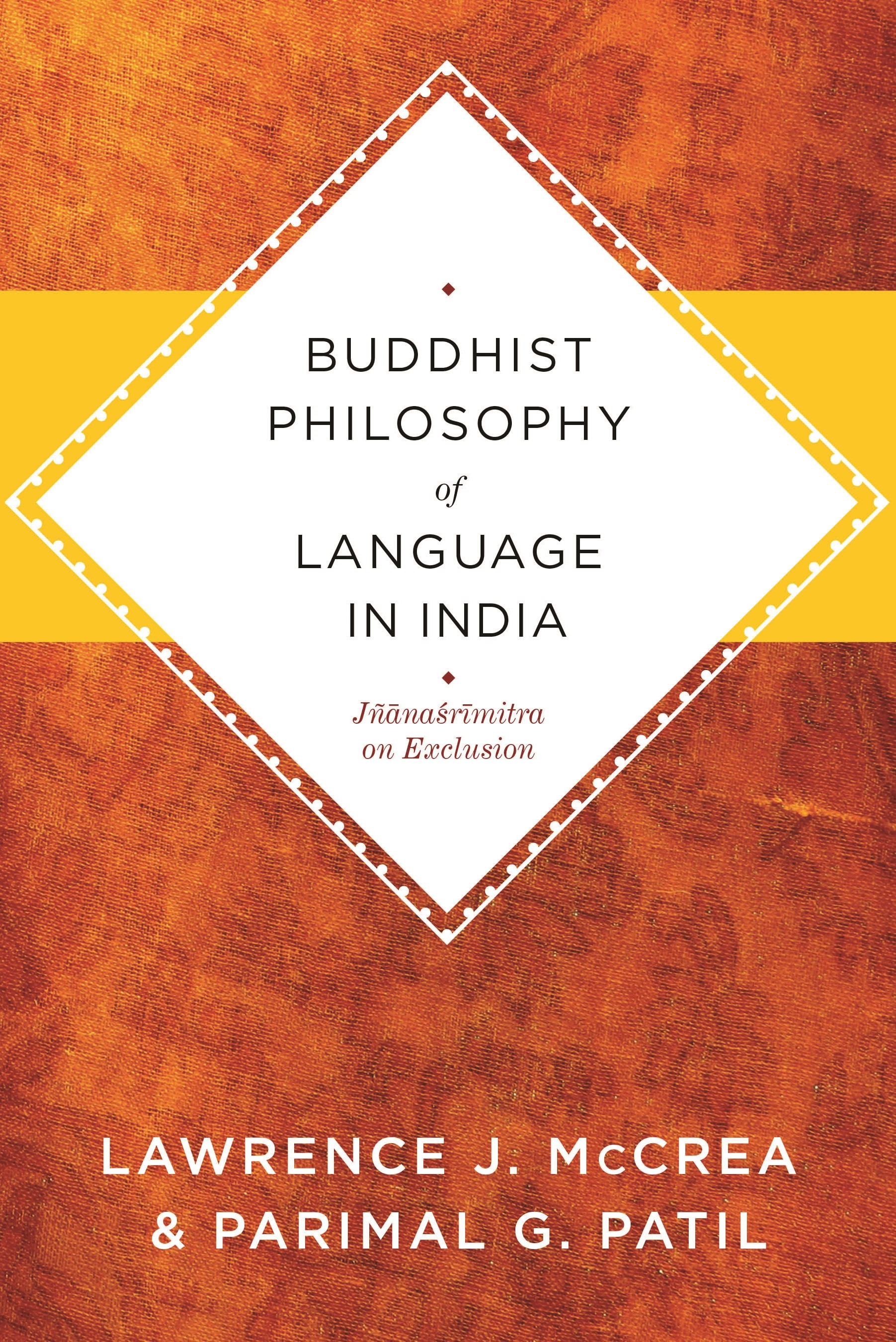 Abbildung von McCrea / Patil | Buddhist Philosophy of Language in India | 2010