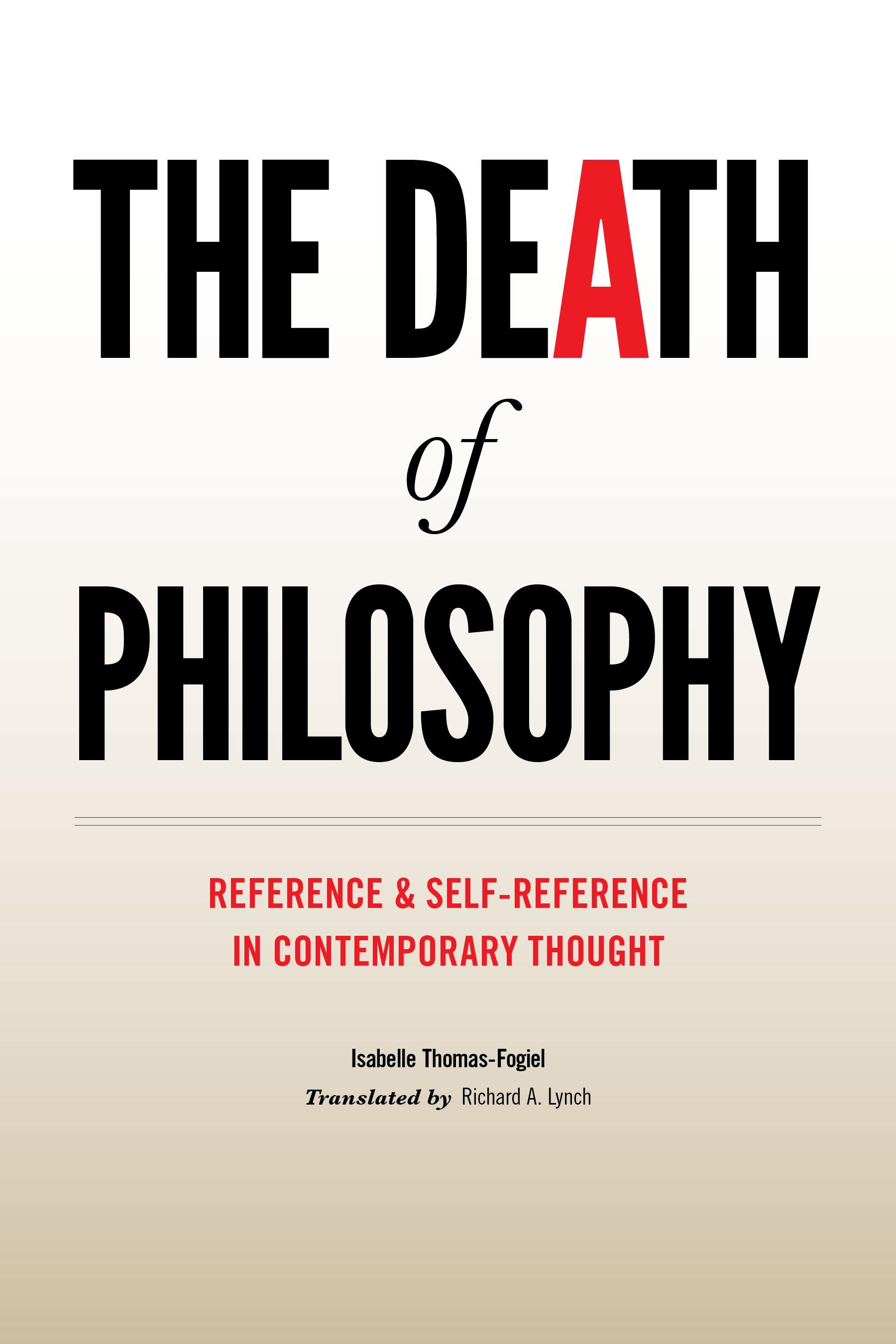 Abbildung von Thomas-Fogiel | The Death of Philosophy | 2011