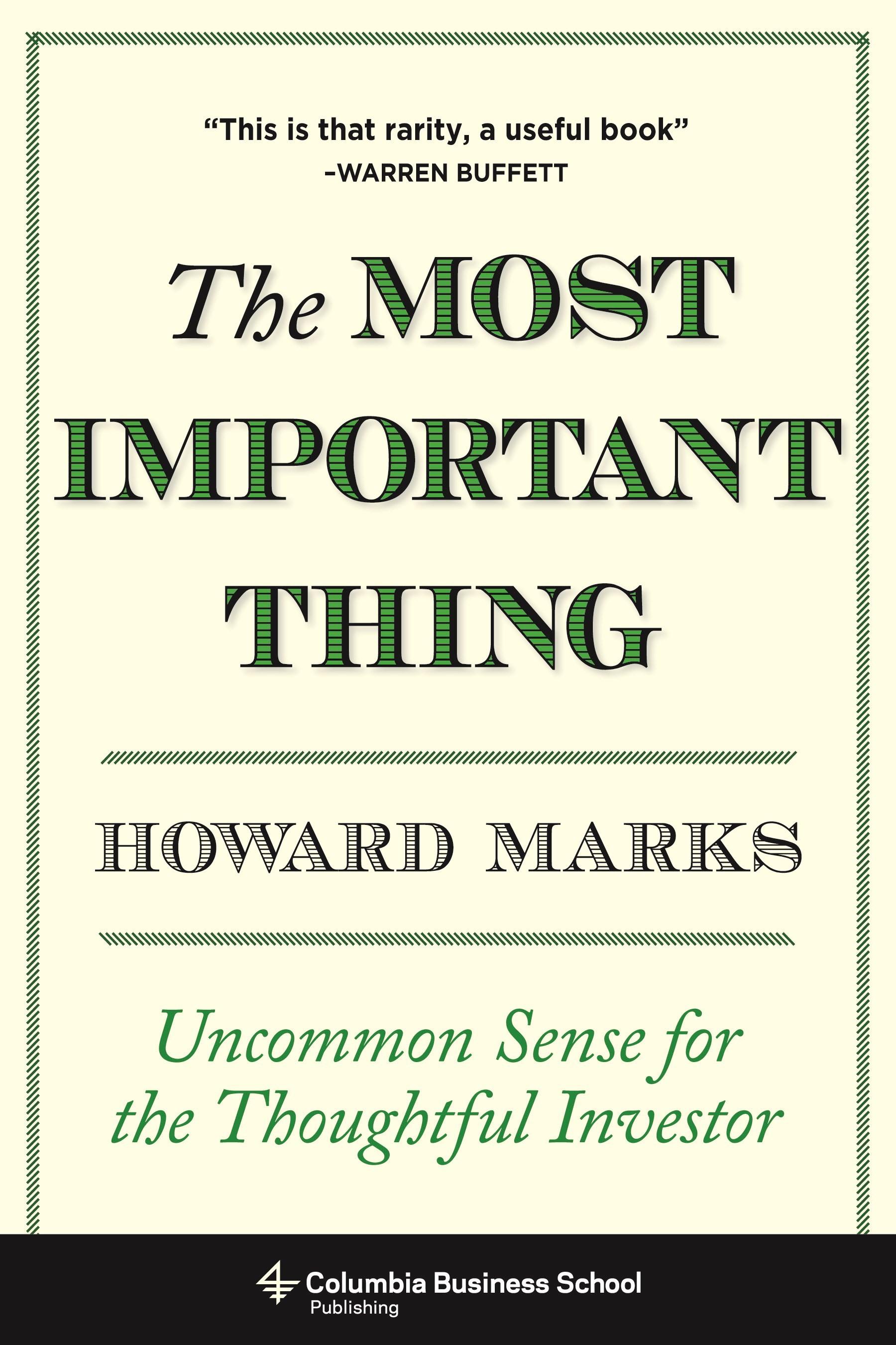 Abbildung von Marks | The Most Important Thing | 2011