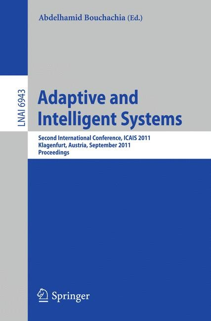 Adaptive and Intelligent Systems | Bouchachia, 2011 | Buch (Cover)
