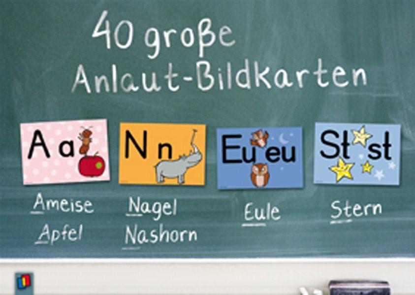 Abbildung von 40 große Anlaut-Bildkarten für Kita und Grundschule   2010