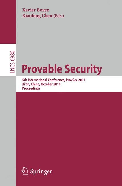 Provable Security | Boyen / Chen, 2011 | Buch (Cover)