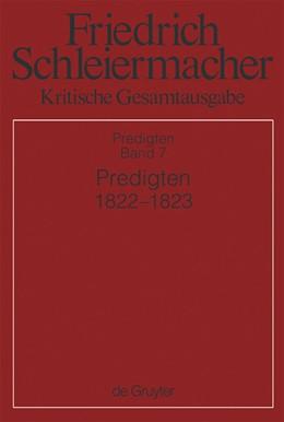 Abbildung von Predigten 1822-1823 | 2012 | Abteilung III: Predigten: Band...