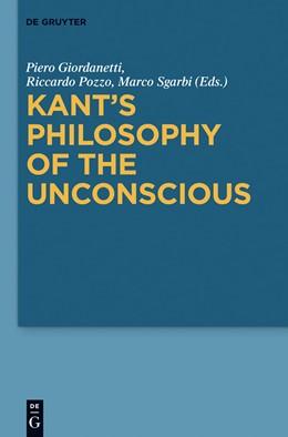 Abbildung von Giordanetti / Pozzo / Sgarbi | Kant's Philosophy of the Unconscious | 2012