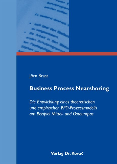 Business Process Nearshoring | Brast, 2011 | Buch (Cover)