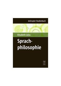 Abbildung von Leiss   Sprachphilosophie   1. Auflage   2009