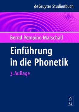 Abbildung von Pompino-Marschall | Einführung in die Phonetik | 3rd revidierte ed | 2009