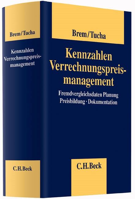 Kennzahlen Verrechnungspreismanagement | Brem / Tucha, 2013 | Buch (Cover)