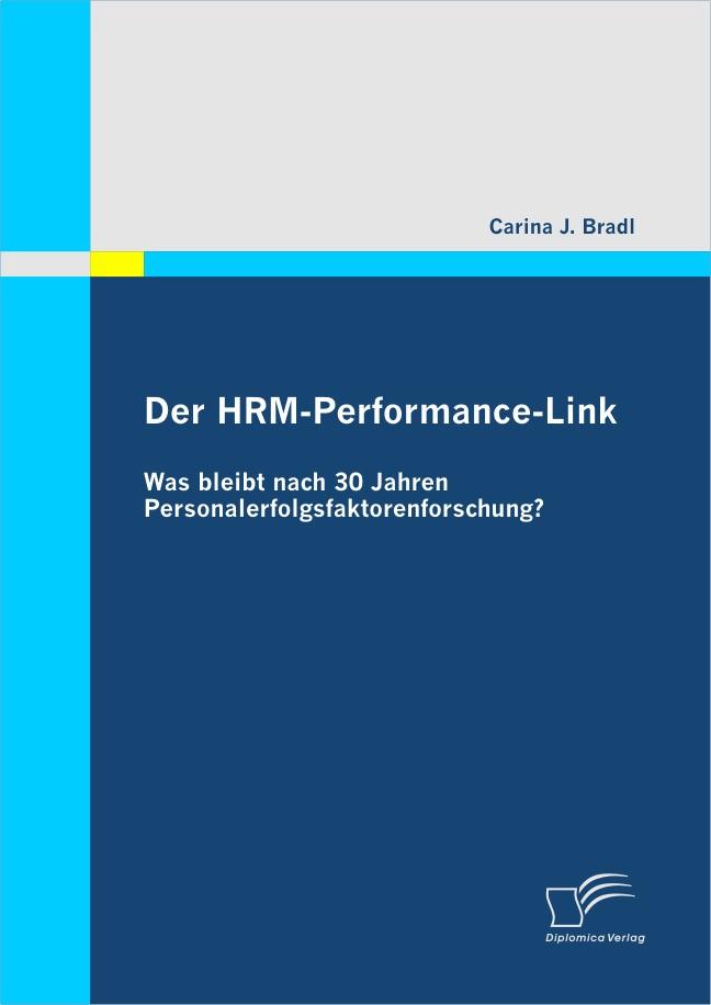 Der HRM-Performance-Link | Bradl | 1. Auflage 2012, 2011 | Buch (Cover)