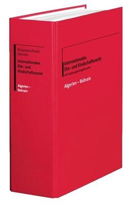 Abbildung von Bergmann / Ferid | Internationales Ehe- und Kindschaftsrecht | 1. Auflage | 2021 | beck-shop.de