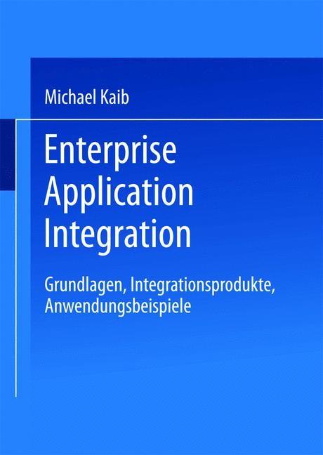 Enterprise Application Integration | Kaib, 2002 | Buch (Cover)