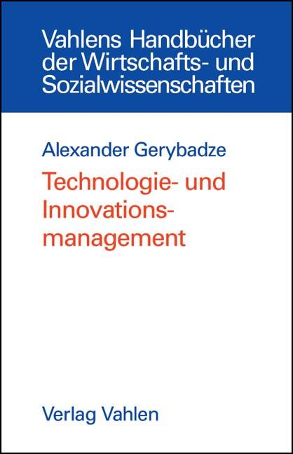 Abbildung von Gerybadze | Technologie- und Innovationsmanagement | 2004