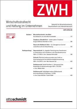 Abbildung von Zeitschrift für Wirtschaftsstrafrecht und Haftung im Unternehmen - ZWH | 2020 | Wirtschaftsstrafrecht, Steuers...
