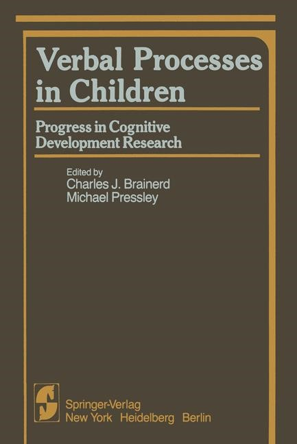 Verbal Processes in Children | Brainerd / Pressley, 1982 | Buch (Cover)