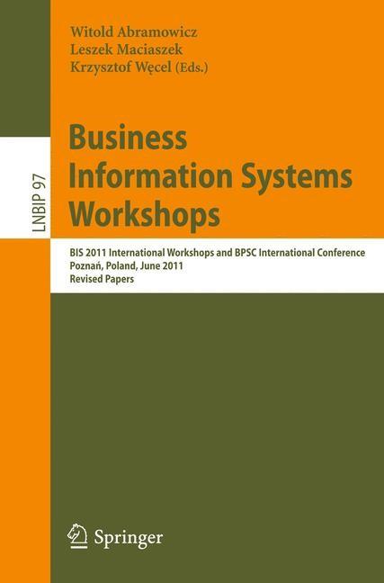 Abbildung von Abramowicz / Maciaszek / Wecel | Business Information Systems Workshops | 2011