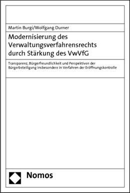 Abbildung von Burgi / Durner   Modernisierung des Verwaltungsverfahrensrechts durch Stärkung des VwVfG   1. Auflage 2012   2011   Transparenz, Bürgerfreundlichk...