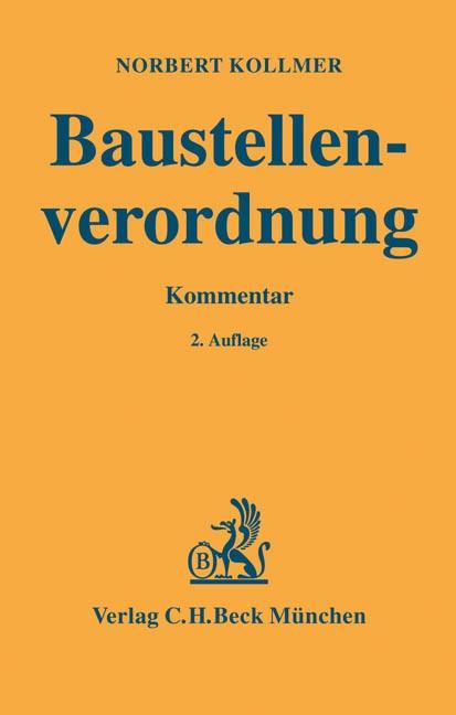 Baustellenverordnung: BaustellV | Kollmer | 2. Auflage, 2004 | Buch (Cover)