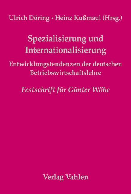 Abbildung von Döring / Kußmaul | Spezialisierung und Internationalisierung | 2004