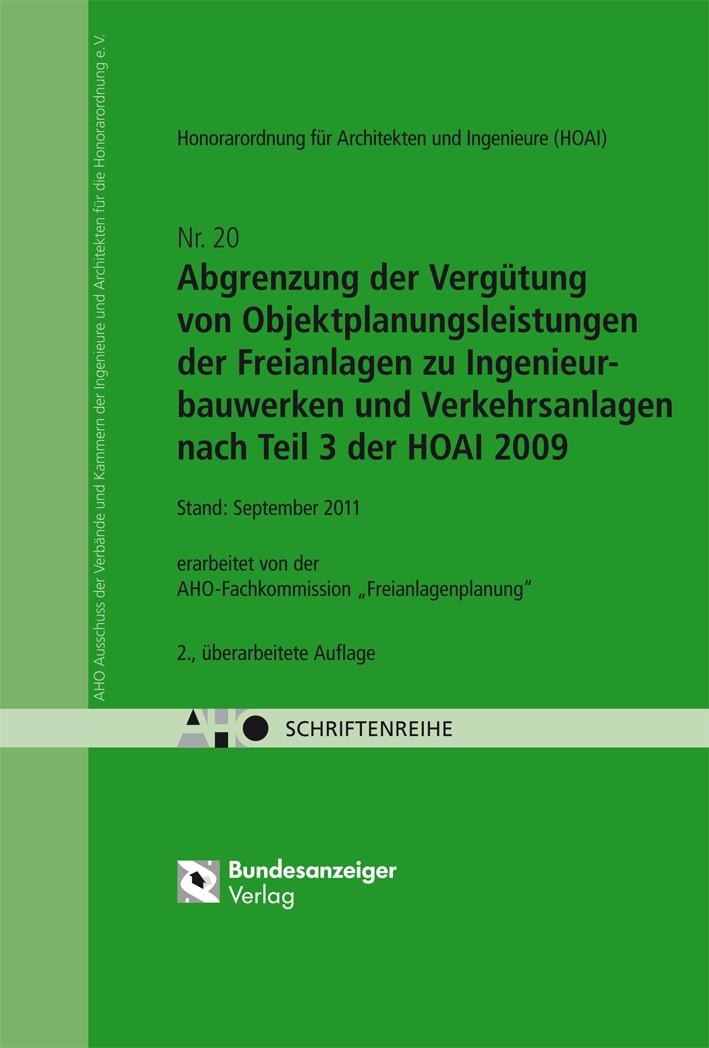 Abgrenzung der Vergütung von Objektplanungsleistungen nach Teil 3 der HOAI 2009 | 2., überarbeitete Auflage 2011. Stand: 09/2011, 2011 | Buch (Cover)