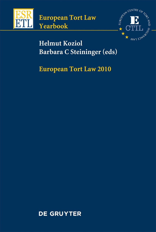 European Tort Law Yearbook   / Koziol, Helmut / Steininger, 2011   Buch (Cover)