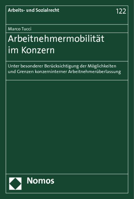 Arbeitnehmermobilität im Konzern | Tucci | 1. Auflage 2012, 2011 | Buch (Cover)