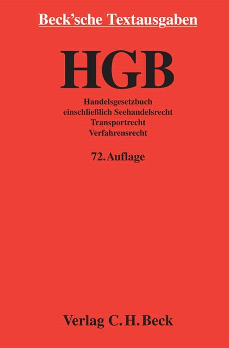 Handelsgesetzbuch: HGB | 72., überarbeitete Auflage, 2013 | Buch (Cover)