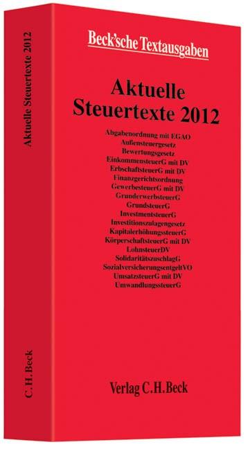 Aktuelle Steuertexte 2012 | Buch (Cover)