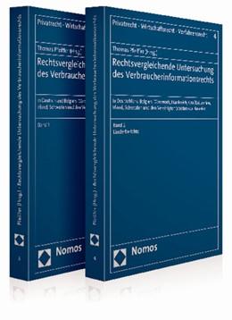 Abbildung von Pfeiffer | Rechtsvergleichende Untersuchung des Verbraucherinformationsrechts | 1. Auflage 2013 | 2013 | In Deutschland, Belgien, Dänem... | 3, 4