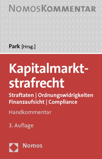 Kapitalmarktstrafrecht   Park (Hrsg.)   Buch (Cover)
