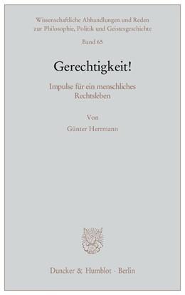 Abbildung von Herrmann | Gerechtigkeit! | 1. Auflage 2011 | 2011 | Impulse für ein menschliches R... | 65