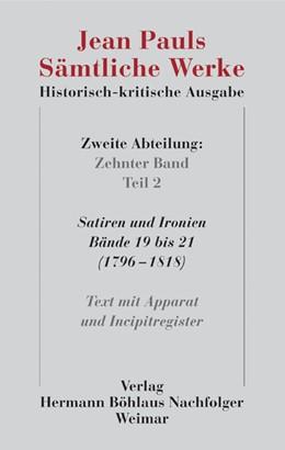 Abbildung von Paul / Pfotenhauer | Jean Pauls Sämtliche Werke. Historisch-kritische Ausgabe | 1. Auflage | 2022 | beck-shop.de