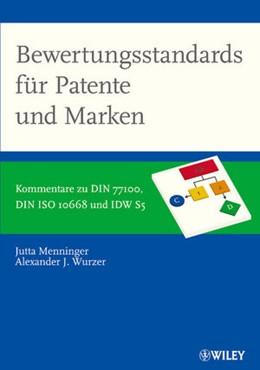 Abbildung von Menninger / Wurzer   Bewertungsstandards für Patente und Marken   2014   Kommentare zu DIN 77100, DIN I...
