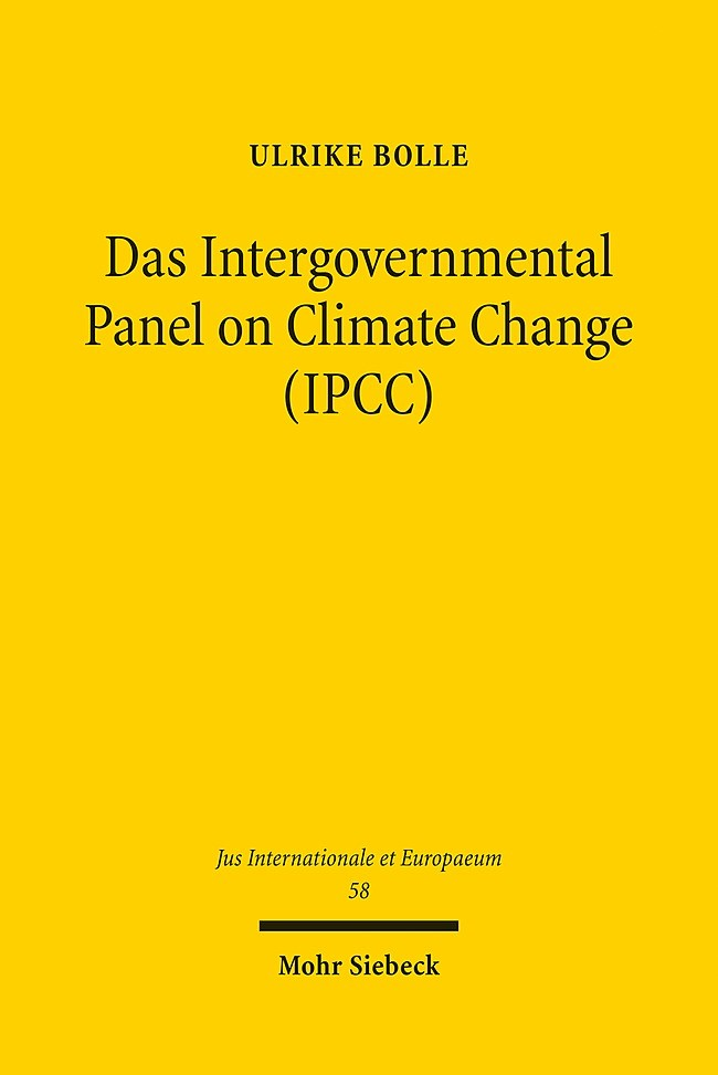 Das Intergovernmental Panel on Climate Change (IPCC) | Bolle, 2011 | Buch (Cover)