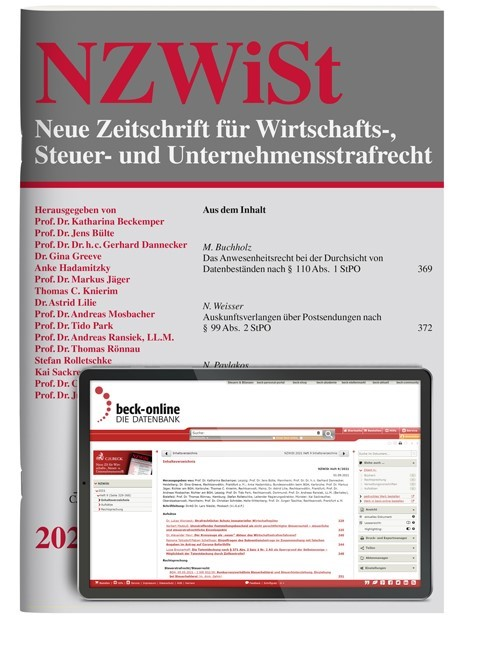 NZWiSt • Neue Zeitschrift für Wirtschafts-, Steuer- und Unternehmensstrafrecht (Cover)