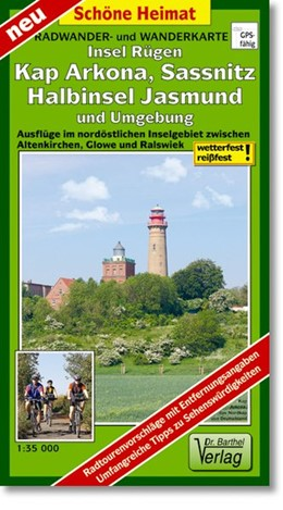 Abbildung von Rügen, Kap Arkona, Sassnitz, Halbinsel Jasmund und Umgebung Radwander- und Wanderkarte 1 : 35 000   Laufzeit bis 2018   2012   Ausflüge im nordöstlichen Inse...