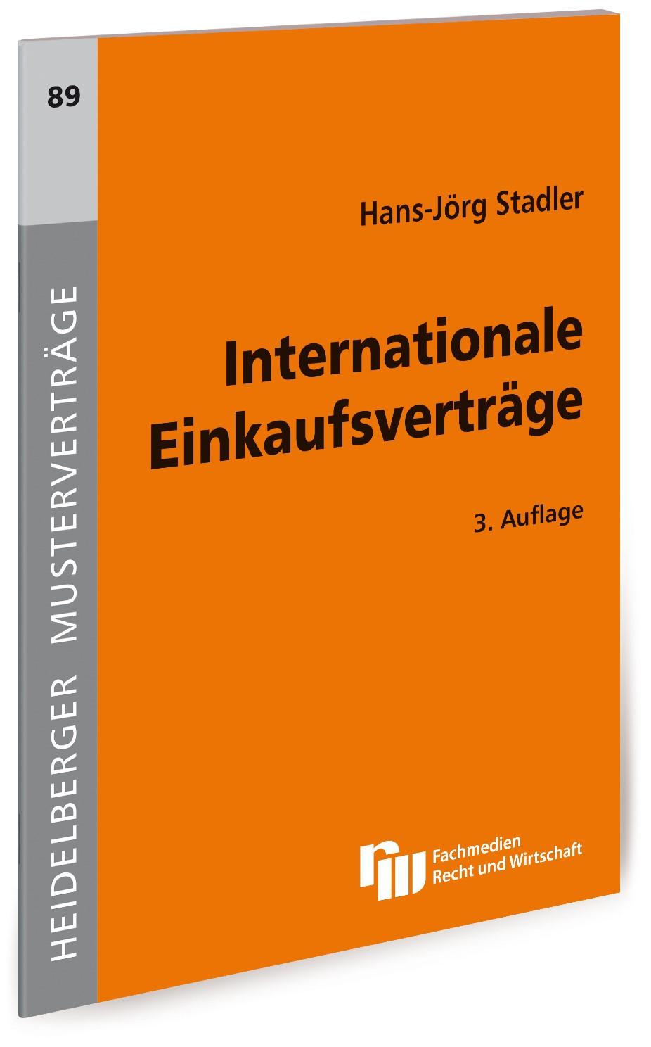 Internationale Einkaufsverträge   Stadler   3., überarbeitete Auflage, 2019   Buch (Cover)