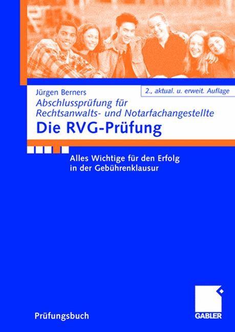 Die RVG-Prüfung | Berners | 2., aktualisierte und erweiterte, 2007 | Buch (Cover)
