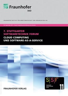 Abbildung von / Spath / Weisbecker / Kokemüller   Cloud Computing und Software-as-a-Service   2011   Tagungsband des Stuttgarter So...