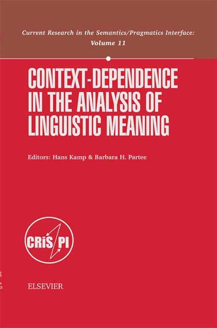 Abbildung von Kamp / Partee   Context-Dependence in the Analysis of Linguistic Meaning   2002